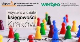 Asystent w dziale księgowym - praca stacjonarna w Krakowie.